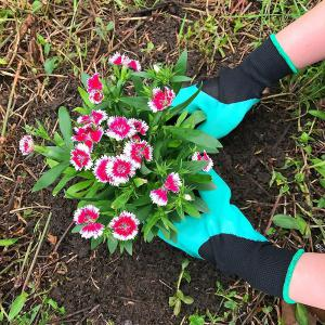 Garden Genie Gloves With Claws Quick and Easy to Dig and Plant, Safe for Gardening Digging and Planting -