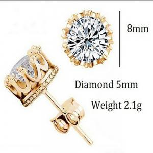 Fashion Sterling Silver Crystal Crown Pattern Stud Earing -