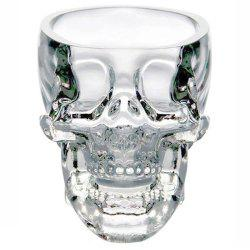 Crystal Skull Head Shot Glass Cup Vodka Whiskey Gin Bar Home Party -