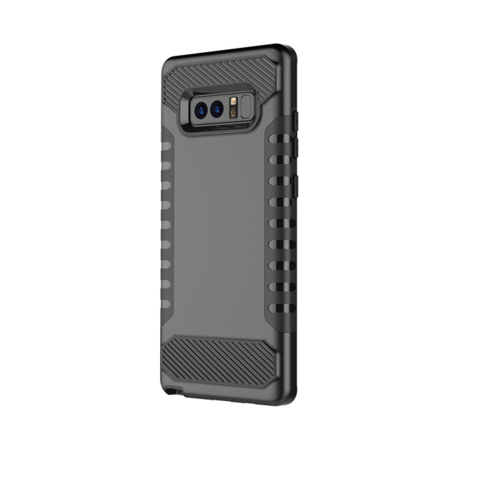 Cheap For Galaxy Note8 Mobile Phone Shell Tank Carbon Fiber Technology Protection Sleeve