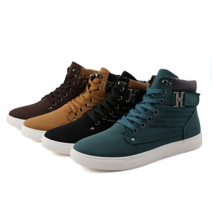 RM862 Men's Sneakers Vintage Letter Themed High Top Lightweight Shoes -
