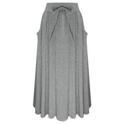 Bow Knot Comfortable Cotton Skirt -
