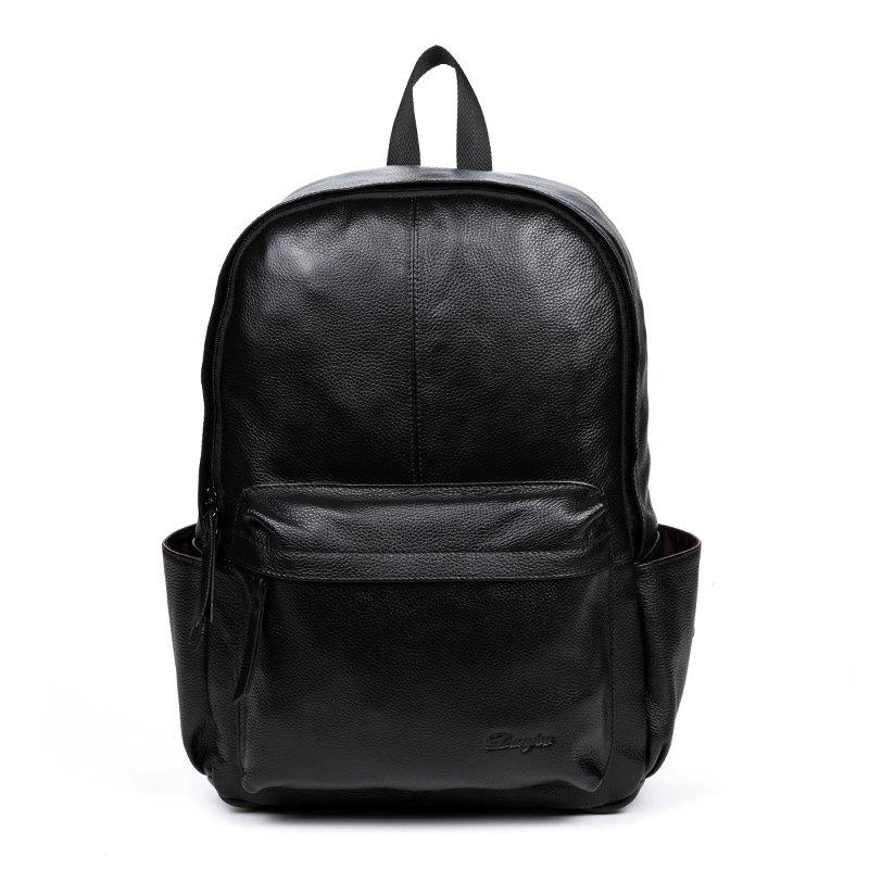 Outfit Genuine Leather Men Backpack Large Capacity Man Travel Bags High  Quality Trendy Business Bag For f7bcdb276424e