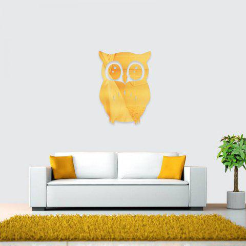 Golden 3d Removable Owl Shape Mirror Wall Art Sticker Mural Home ...