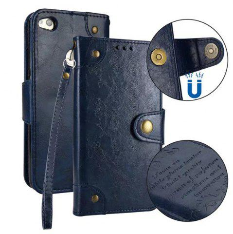 Fashion Wkae Solid Color Retro PU Leather Case with Multi Card Slots for Huawei P8 Lite 2017