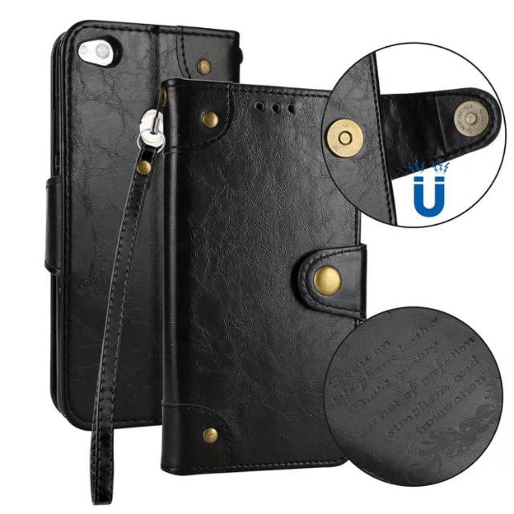 Latest Wkae Solid Color Retro PU Leather Case with Multi Card Slots for Huawei P8 Lite 2017