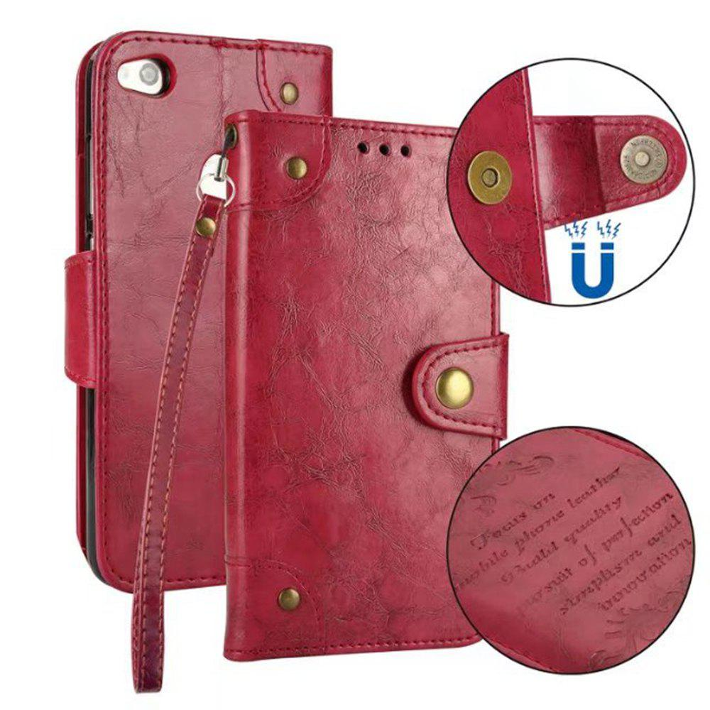 Outfit Wkae Solid Color Retro PU Leather Case with Multi Card Slots for Huawei P8 Lite 2017
