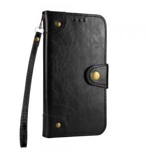 Wkae Solid Color Retro PU Leather Case with Multi Card Slots for Huawei P10 Lite -
