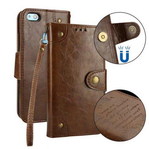 Chic Wkae Solid Color Retro PU Leather Case with Multi Card Slots for Huawei P10 Lite