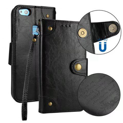 Affordable Wkae Solid Color Retro PU Leather Case with Multi Card Slots for Huawei P10 Lite