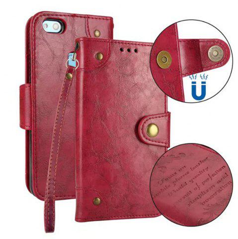 Trendy Wkae Solid Color Retro PU Leather Case with Multi Card Slots for Huawei P10 Lite