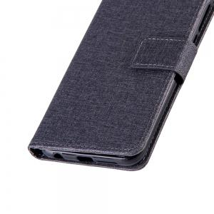 Wkae Solid Color Premium Jeans Cloth Texture Leather Pouch Case for Huawei Hornor 9 -