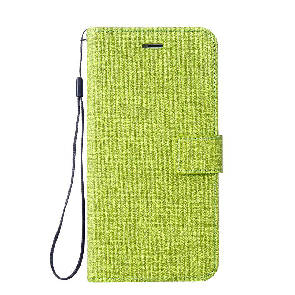 Fancy Wkae Solid Color Premium Jeans Cloth Texture Leather Pouch Case for Huawei Hornor 9