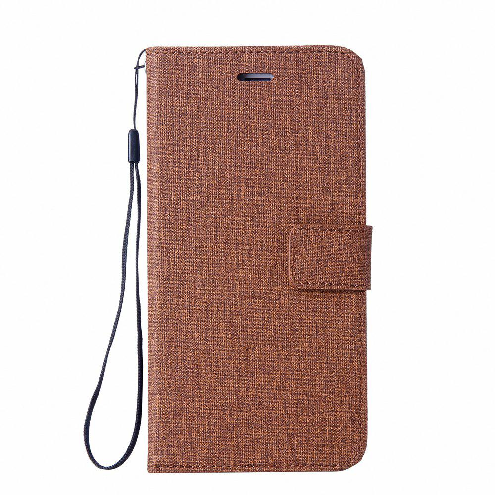 Fancy Wkae Solid Color Premium Jeans Cloth Texture Leather Pouch Case for Huawei Mate 10