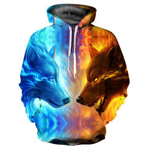 Outfit Men's Stylish 3D Print Long Sleeve Hoodie