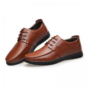Leather Soft Middle-Aged Shoes -