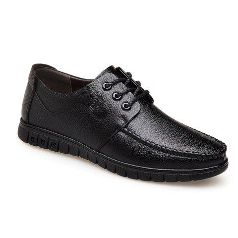 Fancy Leather Soft Middle-Aged Shoes