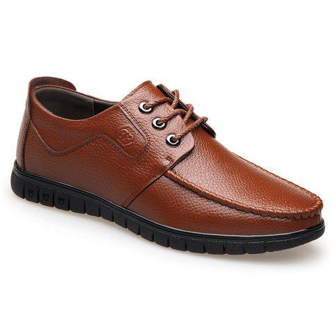 Cheap Leather Soft Middle-Aged Shoes