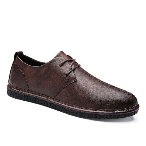 Store Men Casual Trend for Fashion Lace Up Leather Flat Outdoor Shoes