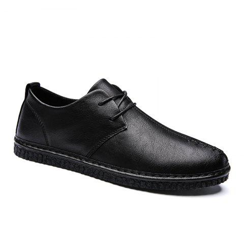 Cheap Men Casual Trend for Fashion Lace Up Leather Flat Outdoor Shoes