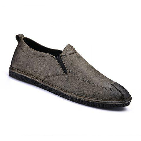 Shops Men Casual Trend for Fashion Leather Slip on Flat Outdoor Shoes