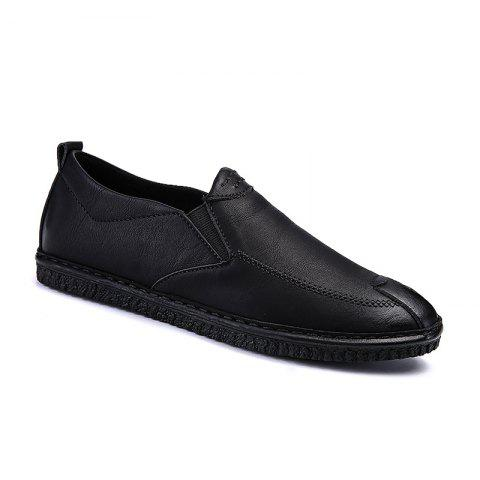 New Men Casual Trend for Fashion Leather Slip on Flat Outdoor Shoes