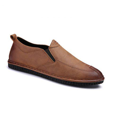 Discount Men Casual Trend for Fashion Leather Slip on Flat Outdoor Shoes