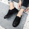 Men Casual Trend for Fashion Leather Slip on Flat Outdoor Shoes -