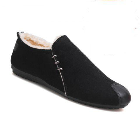 Buy Men Rubber Fashion Drive Winter Peas Shoes Slip on Cotton Warm Cheap Sneakers