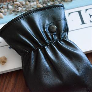PU Leather Gloves Women Winter Mittens Warm Gloves For Woman Winter Glove -