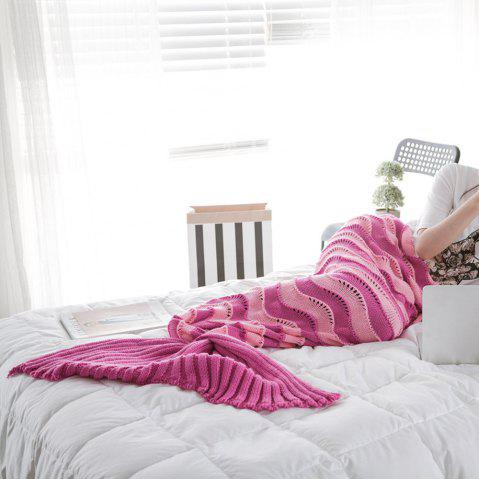 Cheap The New Product Knitted Wave Pattern Design Mermaid Tail Blanket