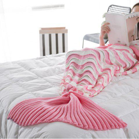 Fancy The New Product Knitted Wave Pattern Design Mermaid Tail Blanket