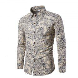 Men Slim Long-Sleeved Plus Sizes Shirts -