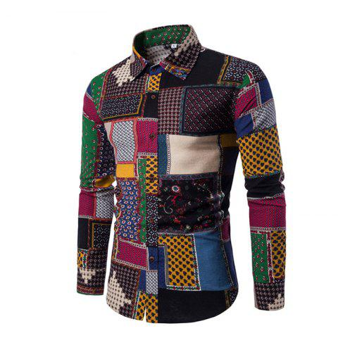 Affordable Man's Repair Long-Sleeved Shirts with Long Sleeves Plus Sizes