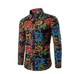 Man's Repair Long-Sleeved Shirts with Long Sleeves Plus Sizes -