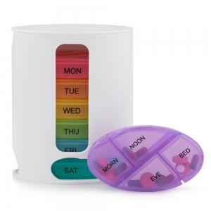 ... Stackable Tower 7 Day Weekly Pill Organizer Box With Pill Holder  Splitter 4 Compartment Organizers For ...
