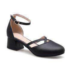 New Rough Round Head Women's Shoes -