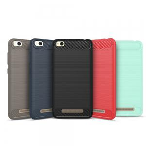 Luxury Carbon Fiber Anti Drop TPU Soft Cover Case for Xiaomi Redmi 4A 5.0 Inch -