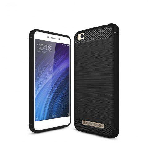 Fashion Luxury Carbon Fiber Anti Drop TPU Soft Cover Case for Xiaomi Redmi 4A 5.0 Inch