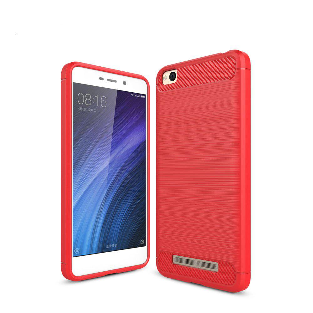 Hot Luxury Carbon Fiber Anti Drop TPU Soft Cover Case for Xiaomi Redmi 4A 5.0 Inch