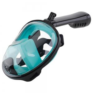 Full Face Snorkel Mask with Panoramic View Anti-Fog Anti-Leak Anti-vertigo Design 180 Degrees Viewing visual field -