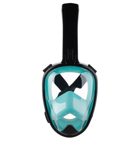 Hot Full Face Snorkel Mask with Panoramic View Anti-Fog Anti-Leak Anti-vertigo Design 180 Degrees Viewing visual field