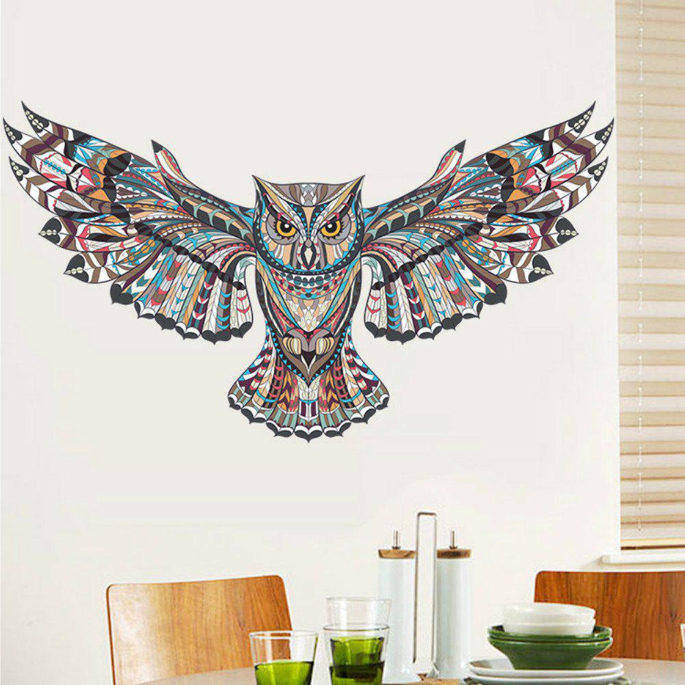 2018 colorful owl rooms decorations birds flying animal wall