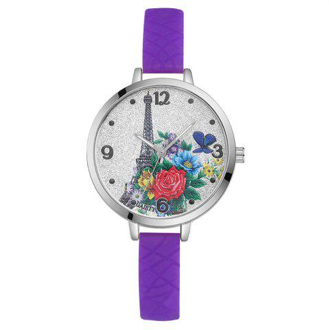 Unique GAIETY G281 Ladies Fashion Quartz Silicone Watch