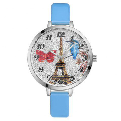 Latest GAIETY G223 Ladies Watch Tower Leather Strap Watch