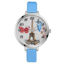 GAIETY G223 Ladies Watch Tower Leather Strap Watch -