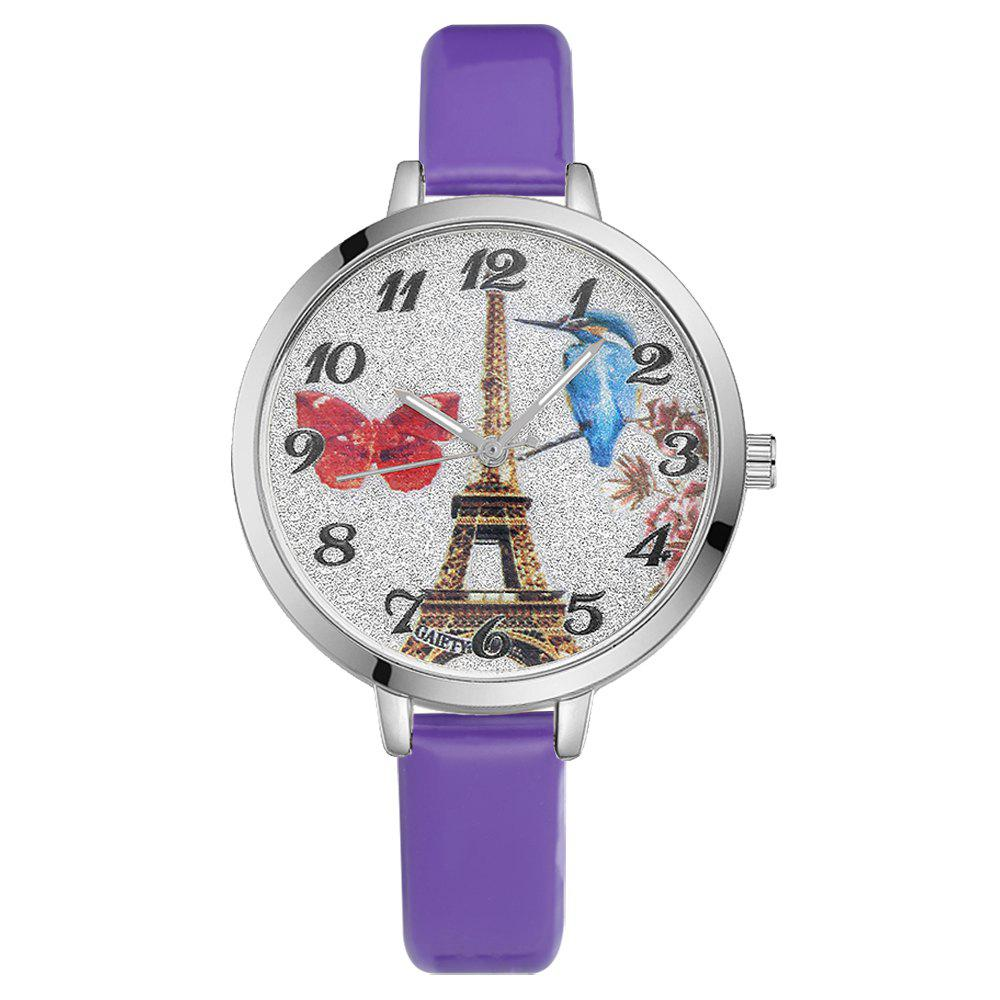 Affordable GAIETY G223 Ladies Watch Tower Leather Strap Watch