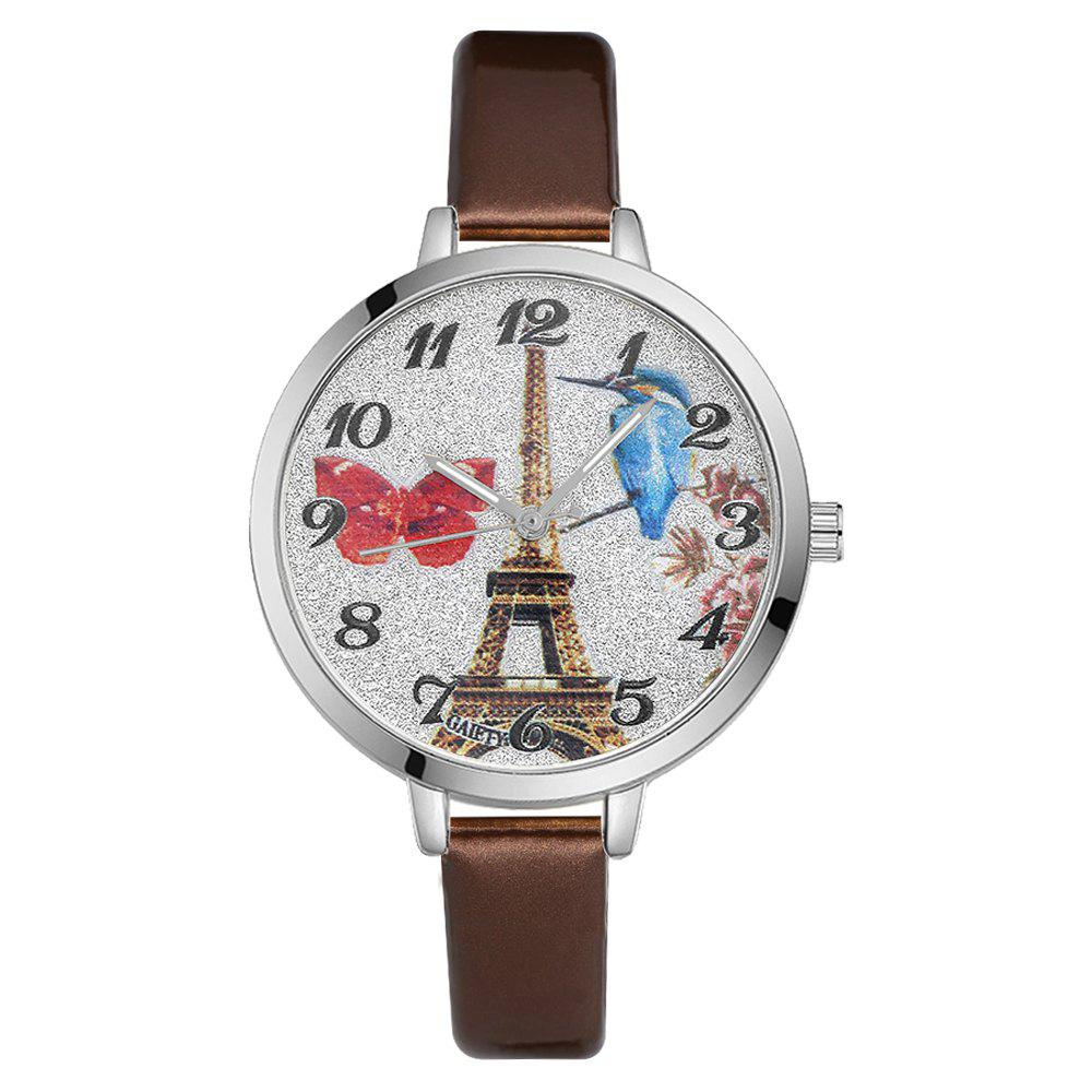 Hot GAIETY G223 Ladies Watch Tower Leather Strap Watch