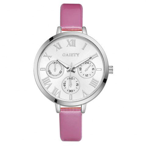 Online GAIETY G226 Women Silver Dial Leather Bracelet Watch