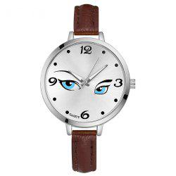 GAIETY G302 Fashion Silver Leather Watch -
